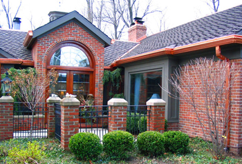 Beautiful copper Gutter Topper job in the Lansing area.